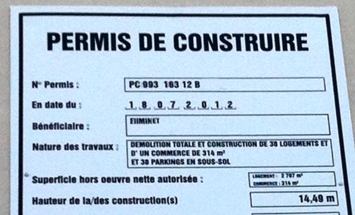 photo de l'offre Permis de construire