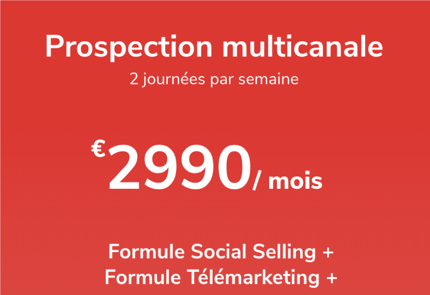 photo de l'offre Prospection multicanale - 2j / semaine