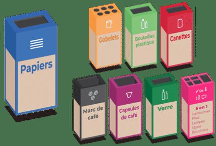 photo de l'offre Service clé en main de recyclage des déchets de bureau (papiers, bouteilles, gobelets, mégots, etc.)