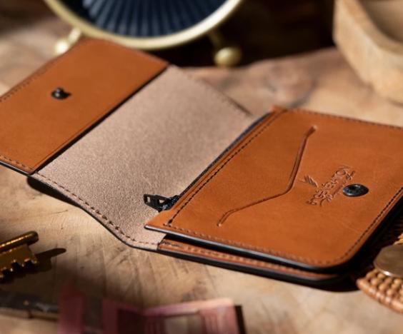 photo de l'offre Portefeuille en cuir compact unisexe personnalisable